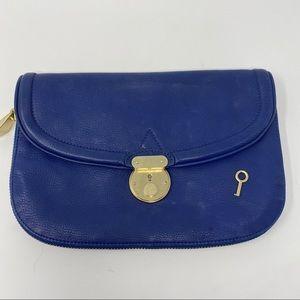 Pour La Victorie Blue Zipper Clutch Key